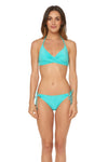 Splice & Dice Drawstring Hipster Bikini Bottom - Capri