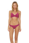 Splice & Dice Reversible Hipster Bikini Bottom - Fancy/Rose - Red Carter
