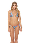 Tahitian Tide Reversible Triangle Side Tie Bottom - Ocean