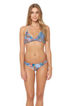 Tahitian Tide Twist Bra Top - Ocean