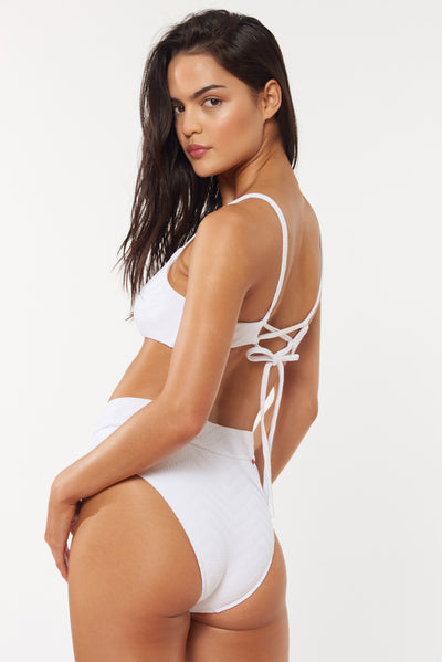 Isa Bottom - White - Red Carter