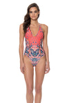 Positano One Piece Swimsuit - Red Carter