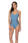 Splice & Dice Side Crochet One Piece Swimsuit