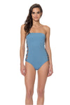 Splice & Dice Strapless One Piece Swimsuit