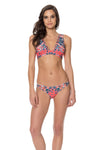 Positano Plunge Bikini Top - Red Carter