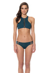 Splice & Dice High Neck Bikini Top