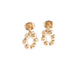 14k Gold Flower Earrings (1 Pair)