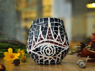 Handmade Mosaic All Seeing Eye Candleholder