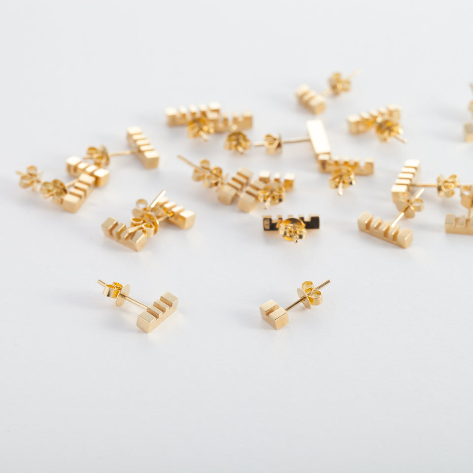 18k Gold Morse Code Earring (1 piece)