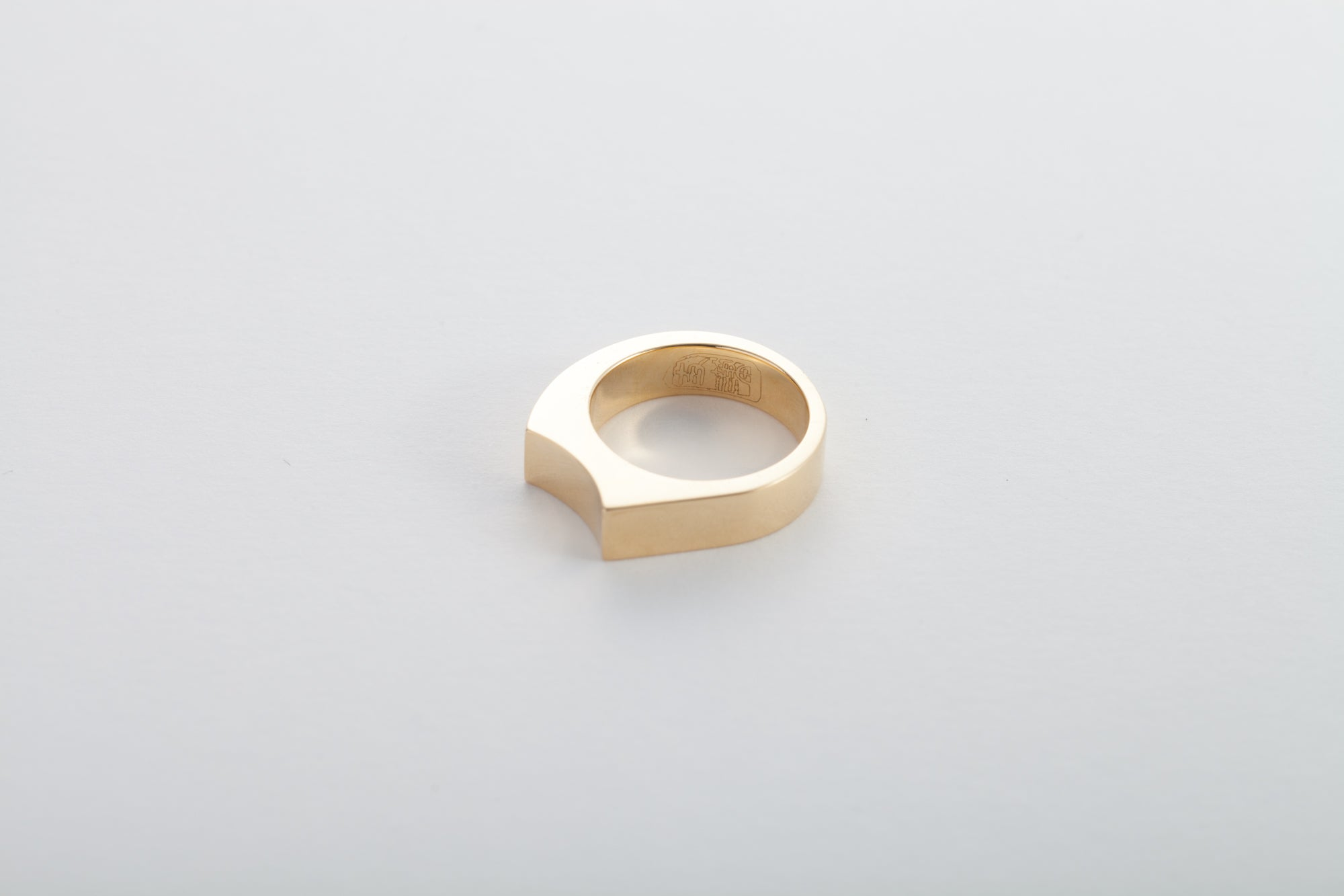 18k Full Saddle Gold Ring