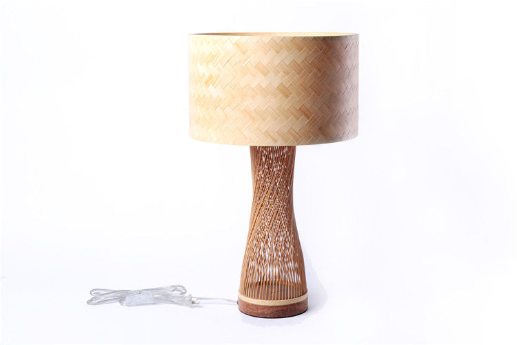 Handmade Bamboo Twisted Lamp with Lamp Shade