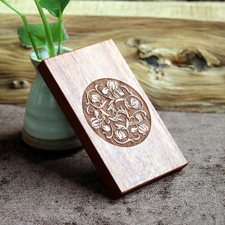 Handmade Round Pear Flower Business Card Case