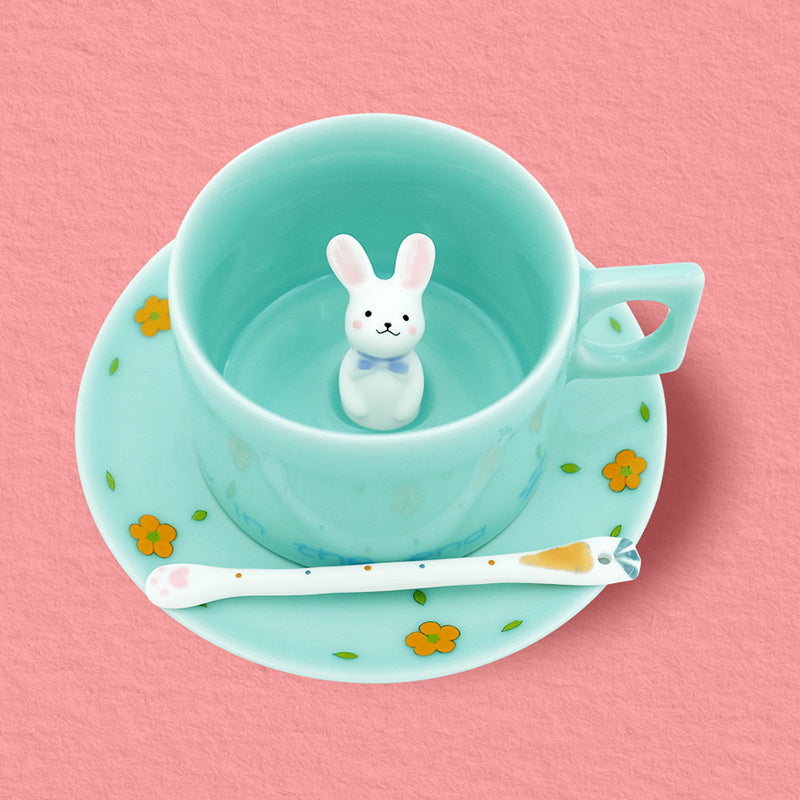 Handmade Rabbit Coffee Cup (Inside)