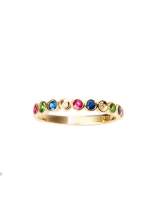 14k Gold Four-color Ring