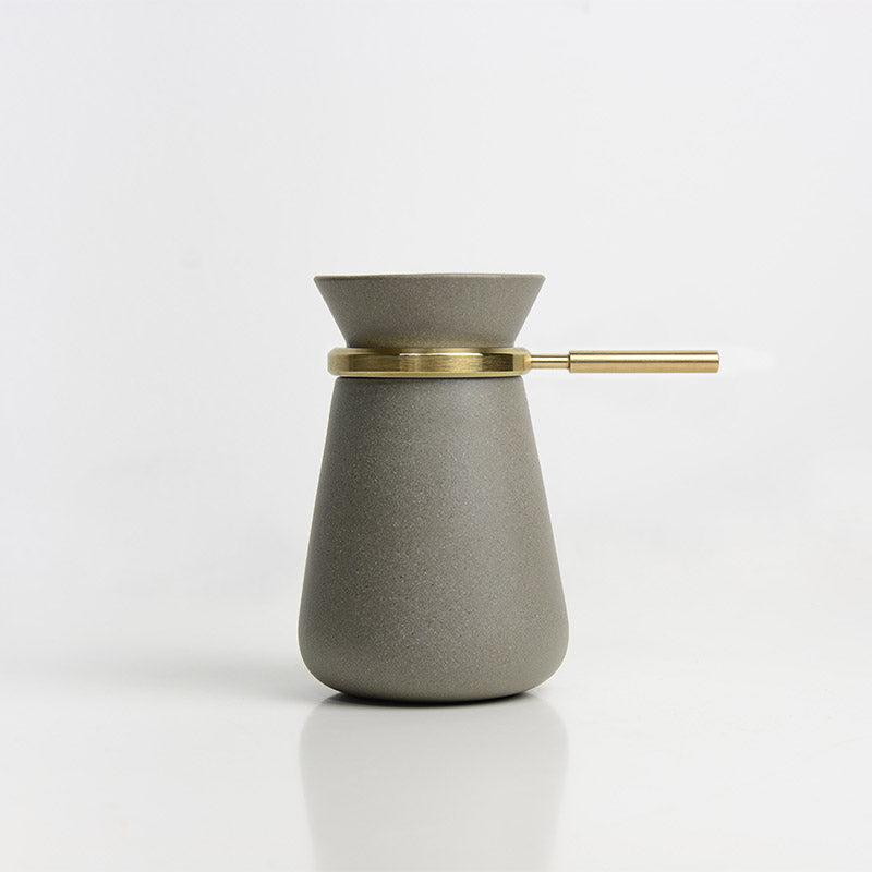 Handmade Grey Coffee&Tea Pot(Brass)