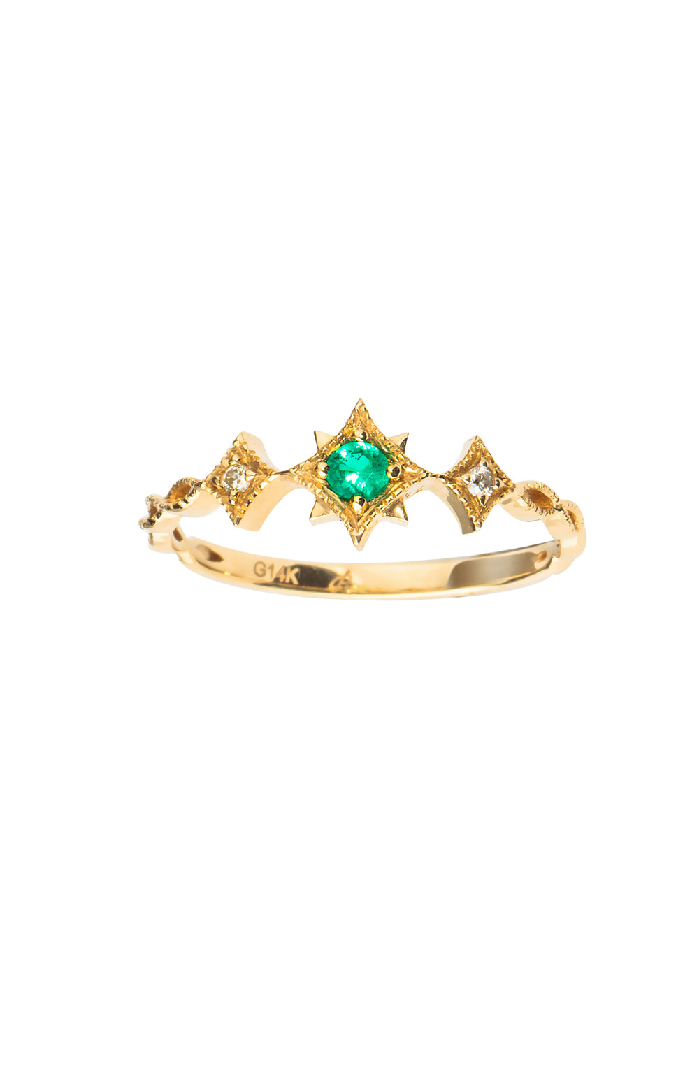14k Gold Fancy Light Ring