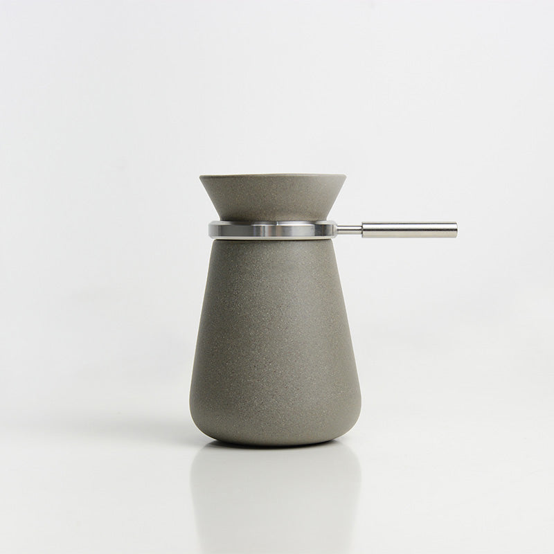 Handmade Grey Coffee&Tea Pot(Stainless Steel)
