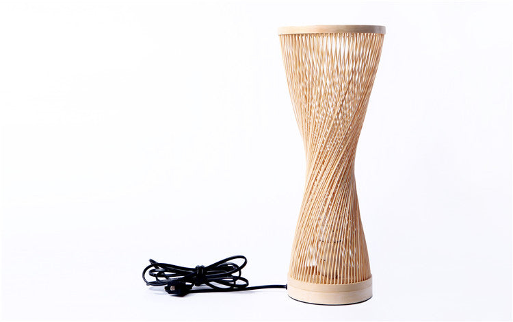 Handmade Bamboo Twisted Lamp