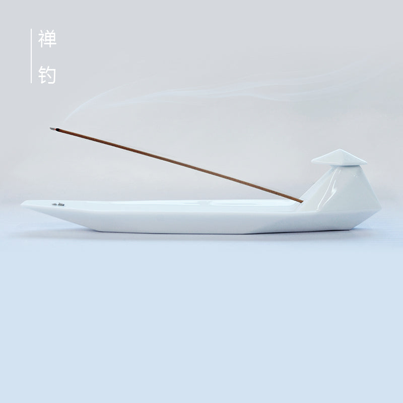 Ceramic Incense Holder - Lone Fishing Boat