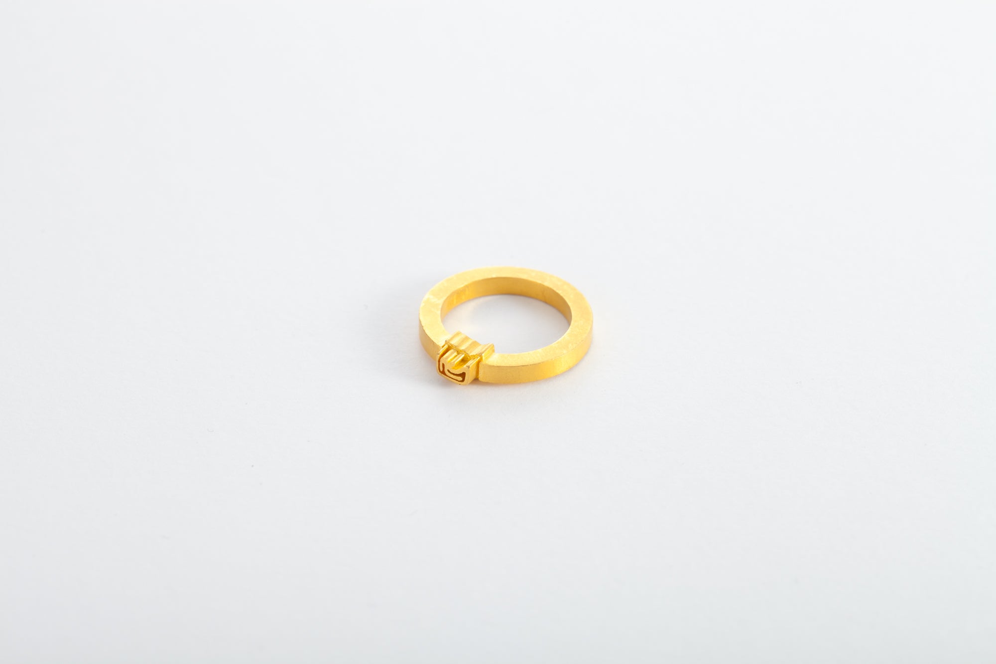 24k Two-Sides Golden Ring