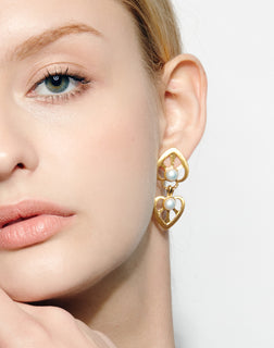 Gold-plated Silver Age Long Earring