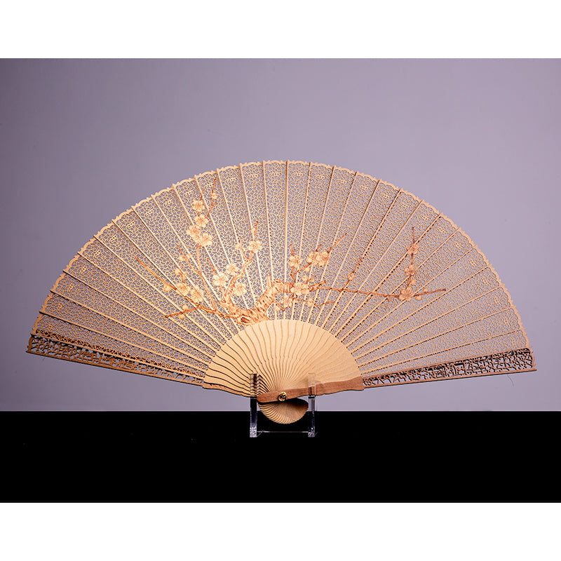 Red Sandalwood Plum Fan