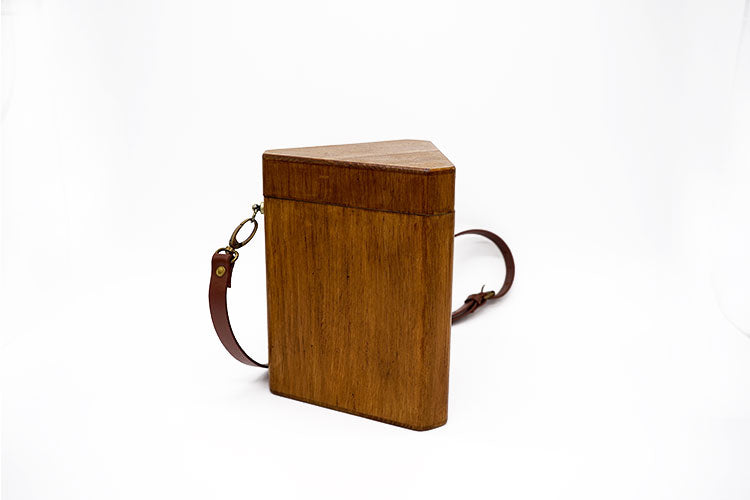 Pine Wood Triangle Handbag
