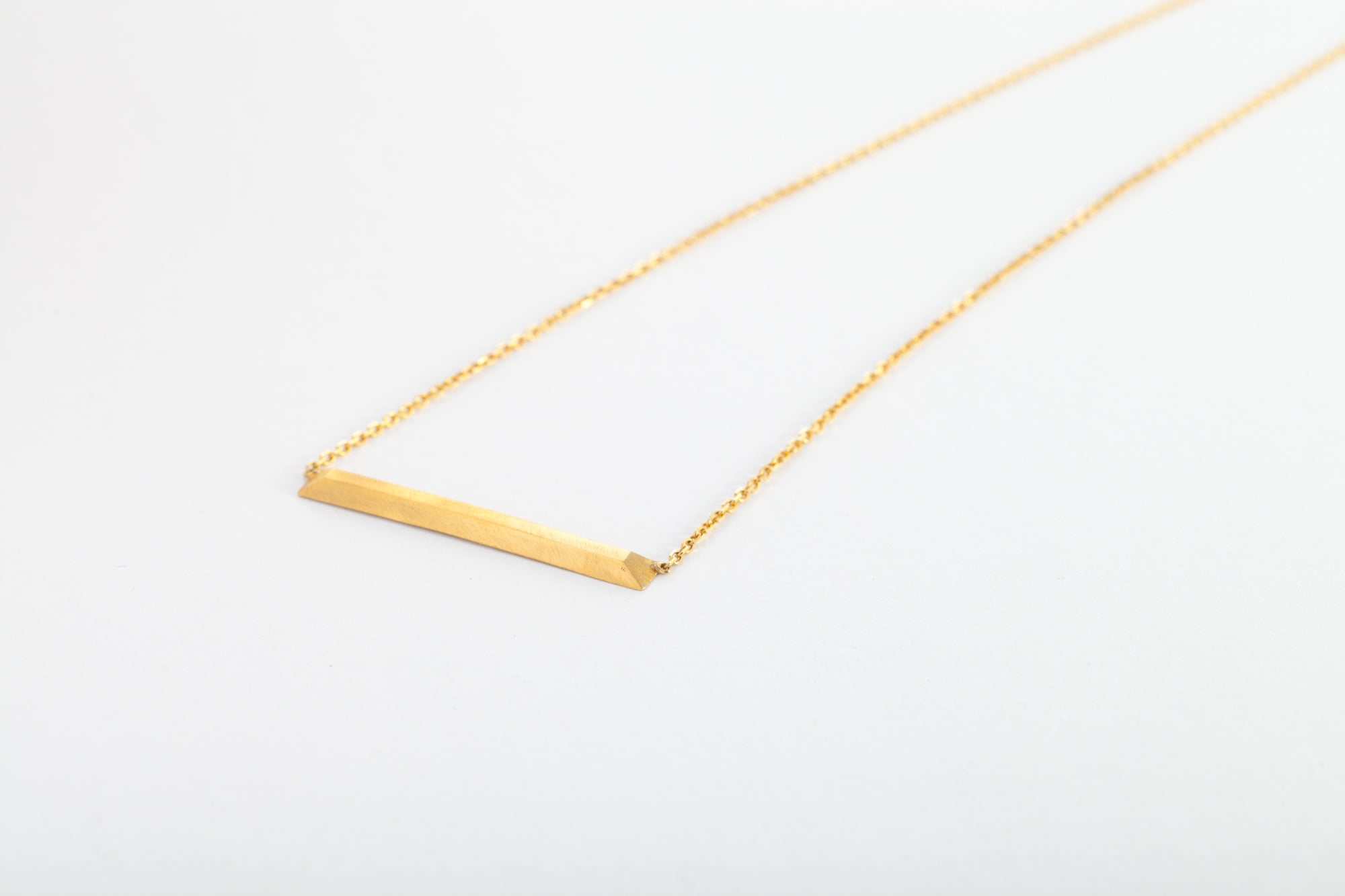 24k Gold Cross Bar Necklace