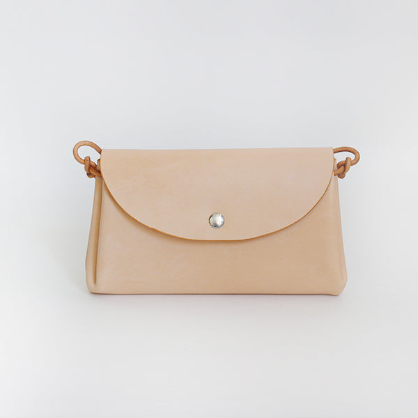 Tanned Vegetable Leather Clutch