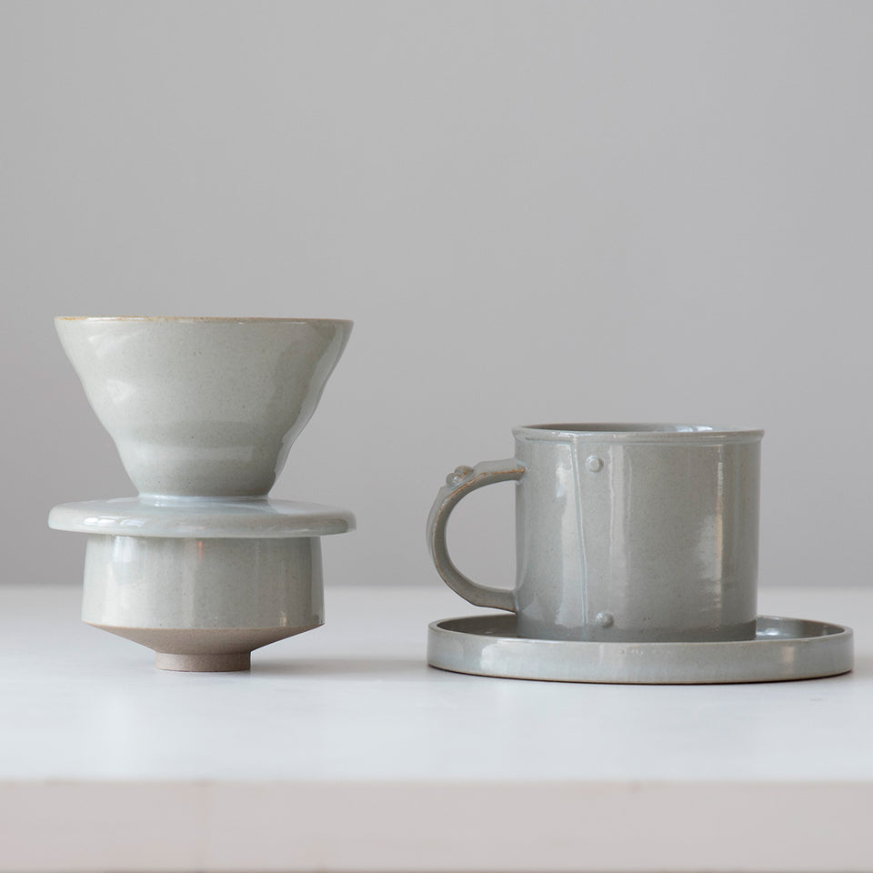 Grey Glazed Coffee Set