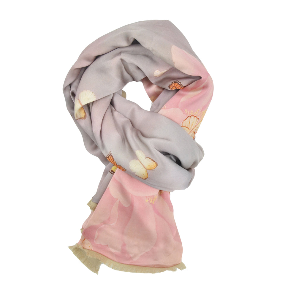 16mm Satin Two-Sided Silk Brush Scarf - Chuan Pak