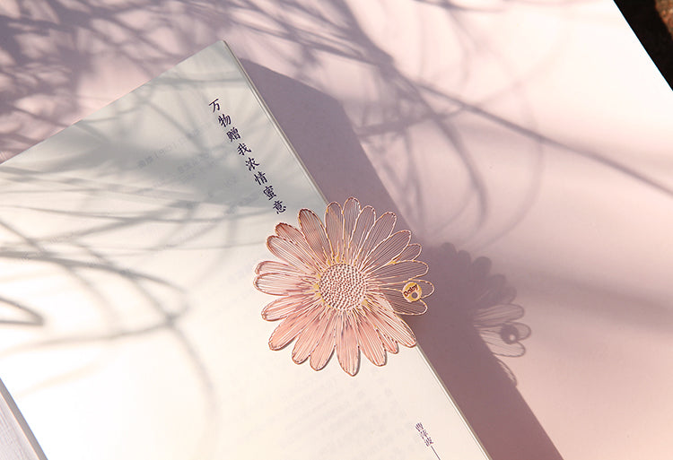 Brass Gold Plated Floral Bookmarks