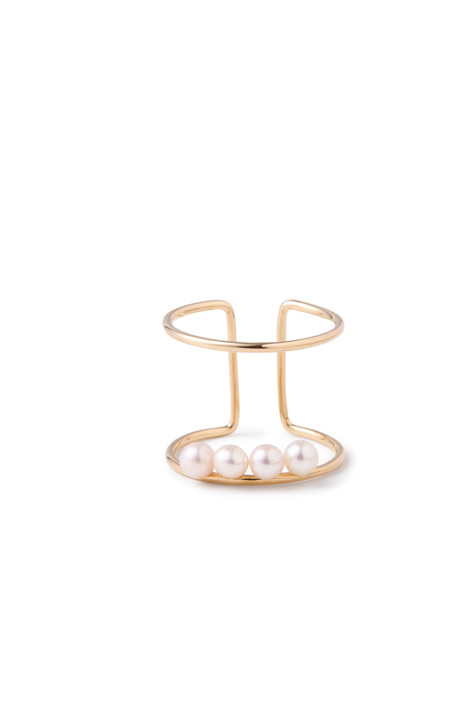 14k Gold and Japanese AKOYA Pearl Cocktail Ring