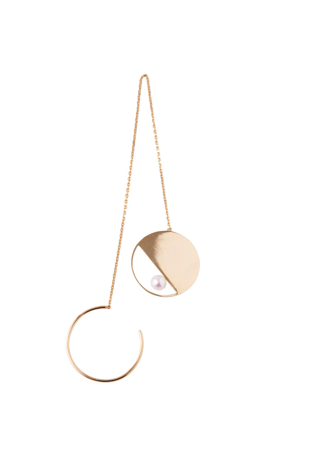 14k Gold and Japanese AKOYA Pearl Cocktail Dangling Earring (1 Piece)