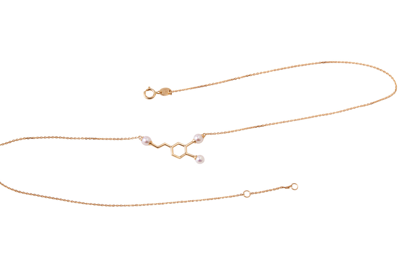 14k Gold and Japanese AKOYA Pearl Dopamine Necklace