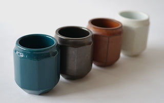 Handmade Hexagonal Cups (4 Piece Set)
