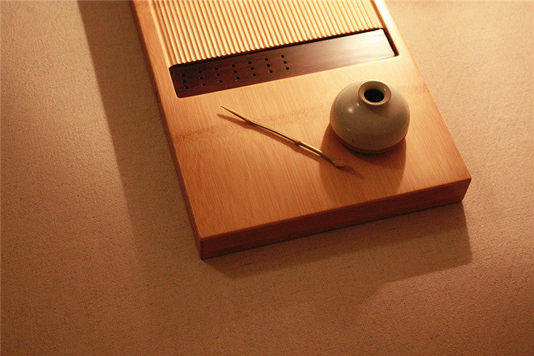 Handmade Bamboo Gongfu Tea Table with Drain