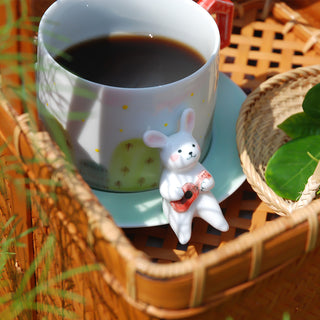 Handmade Rabit Coffee Cup (Outside)