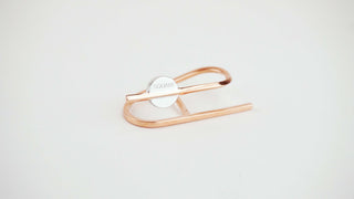 18k Gold and 925 Silver Plated Minimalist Capsule Pill 2-Finger Ring