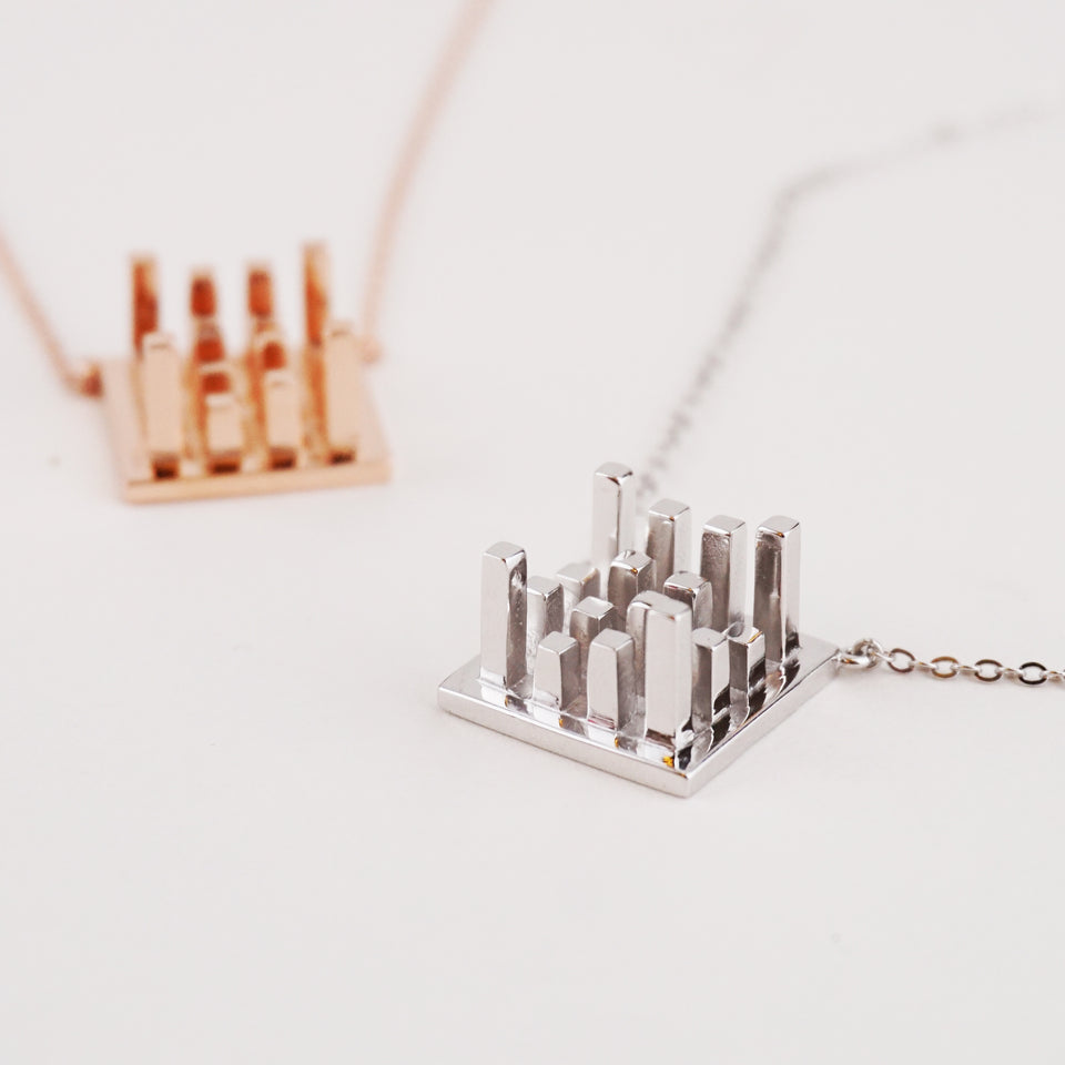 925 Silver Geometric Necklace