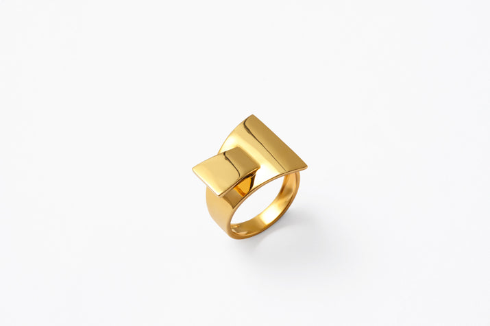 18k Gold and 925 Silver Paper-Like Rings
