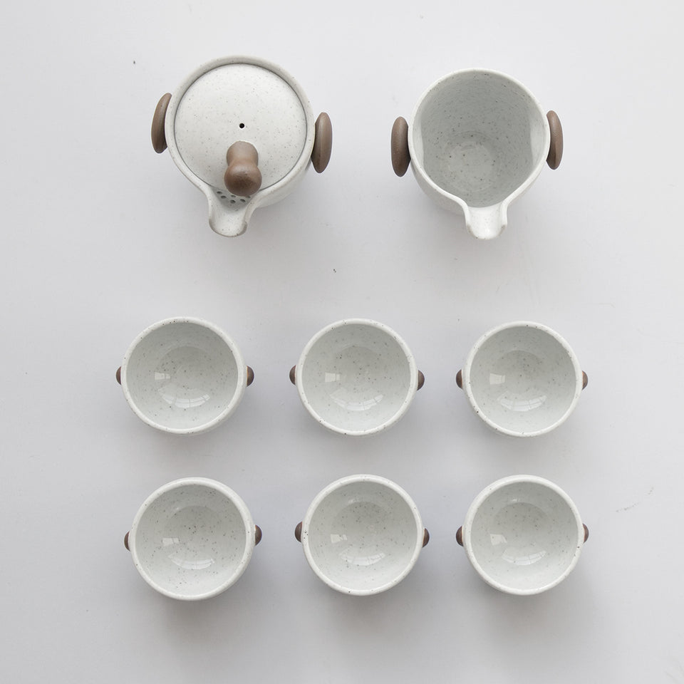 Handmade Ceramic Tea Set(Xin)