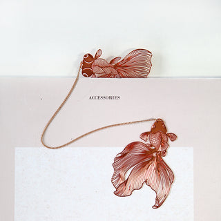 Brass Gold Plated Goldfish Bookmark
