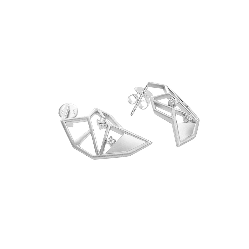 S295 Silver-Plated Envision Earrings