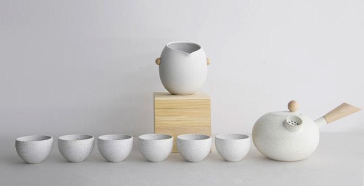 Handmade Ceramic Tea Set(Zhu)