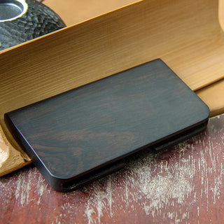 Handmade Ebony Yurun Business Card Case