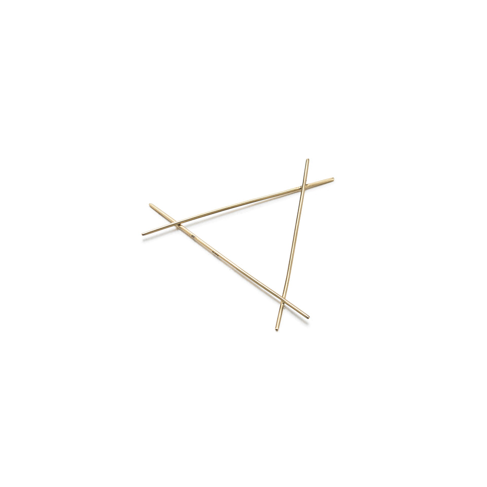 18k Gold Triangular Needle Earring