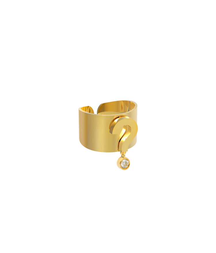 Question Mark Gold Ring