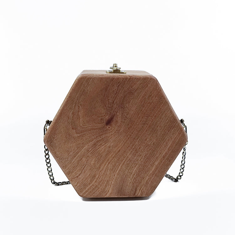 Sapele Hexagon Handbag