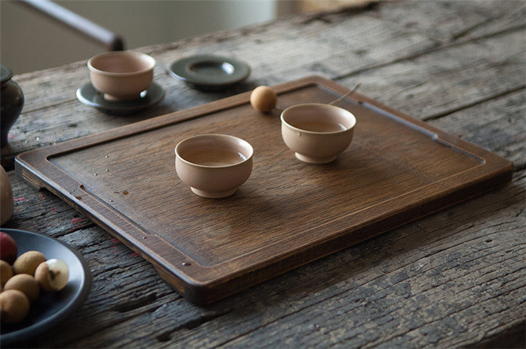 Handmade Bamboo Dark Antique Tray